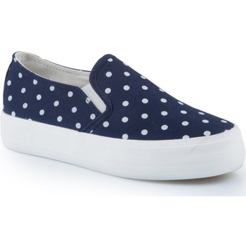 Chaussures Femme Slips on Pomme Passion Slip-on à pois Eleanie Marine