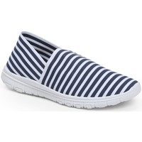 Chaussures Femme Baskets basses Pomme Passion Slip-on à rayures style running Fabiana Marine