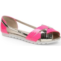 Chaussures Femme Ballerines / babies Pomme Passion Ballerines semi-ouvertes vernis Violetta Rose