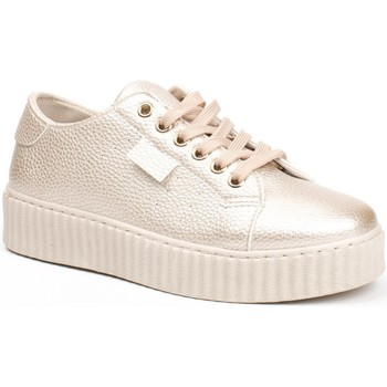 Chaussures Femme Baskets basses Pomme Passion Baskets nacrées style creepers Coraline Doree