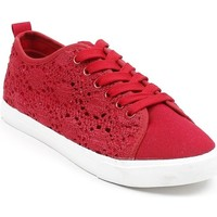 Chaussures Femme Baskets basses Pomme Passion Baskets basses en crochet Gaelle Rouge