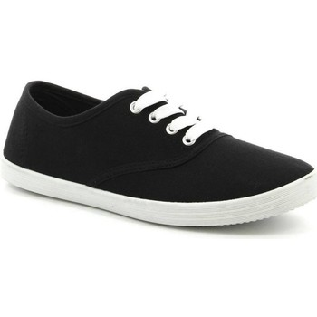 Chaussures Femme Baskets basses Pomme Passion Chaussure femme Basket VICKY Noir-blanc