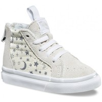 Chaussures Fille Baskets montantes Vans Chaussures  T Sk8-Hi Zip - Star Glitter White blanc