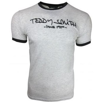 Vêtements Homme T-shirts manches courtes Teddy Smith - T-SHIRT MODE  HOMME BLANC TICLASS MANCHES COURCHES blanc