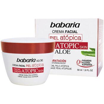 Beauté Hydratants & nourrissants Babaria Piel Atopica Aloe Vera Crema Facial 0%  50 ml