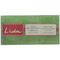Beauté Accessoires ongles Lida Jabón 100% Natural Glicerina Y Aloe Vera Coffret 3 Pz 3 u