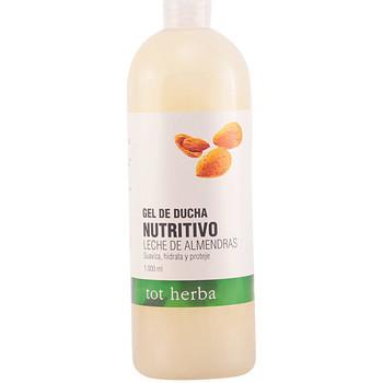 Beauté Femme Produits bains Tot Herba Gel Douche Nutritivo Leche De Almendras  1000 ml