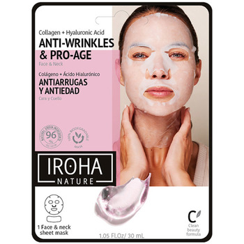 Beauté Femme Masques & gommages Iroha 100% Cotton Face & Neck Mask Collagen-antiage 1 Use 1 u