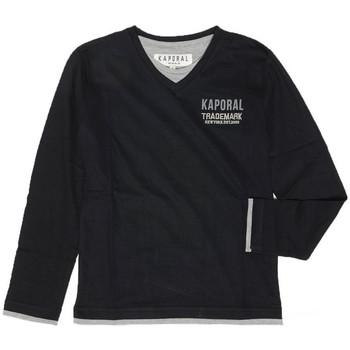 Vêtements Garçon T-shirts manches longues Kaporal T-shirt Manches Longues  Liwen Black