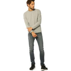 Vêtements Femme T-shirts manches longues Jack & Jones T-shirt HOMME - OTTO SWEAT CREW NECK_LIGHT GREY MEL /REG Gris