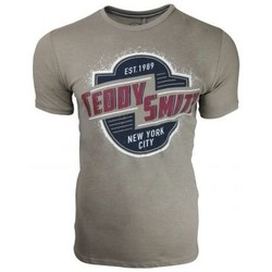 Vêtements Homme T-shirts manches courtes Teddy Smith - TEE-SHIRT MODE TILIO beige