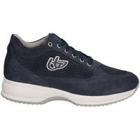 Chaussures Femme Baskets basses Byblos Blu 672002 Chaussures lacets Femmes Bleu Bleu