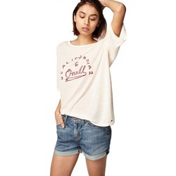 Vêtements Femme T-shirts manches courtes O'neill T-Shirt  Lw Graphic Slub - Pale Blush blanc