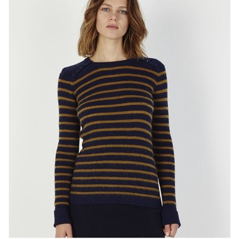 Vêtements Femme Pulls Marie Sixtine Pull Amone Bleu Nuit / Olive