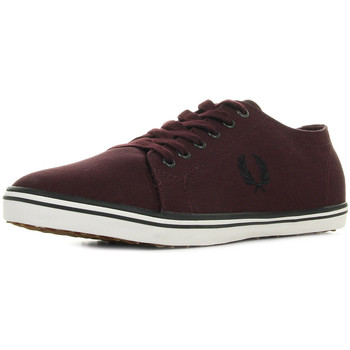Chaussures Homme Baskets basses Fred Perry Kingston Twill Mahogany rouge