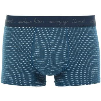 Vêtements Homme Boxers / Caleçons Eminence Boxer Homme Coton VOYAGE Tirets Cobalt bleu