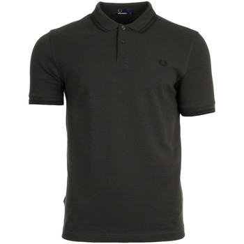 Vêtements Homme Polos manches courtes Fred Perry Twin Tipped Shirt Liquorice Black marron