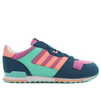 Chaussures Enfant Baskets basses adidas Originals ZX 700 Bleu marine-Rose
