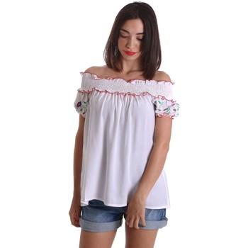 Vêtements Femme Tops / Blouses Denny Rose 73DR24012 Blusa Femmes Blanc Blanc