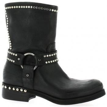 Chaussures Femme Bottines Curiosity Boots cuir Noir