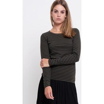 Vêtements Femme Tuniques Minimum TUNIQUE SCARLETT Rayures noires fond vert olive