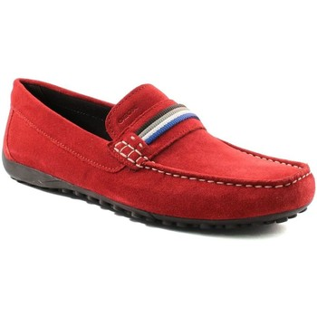 Chaussures Homme Mocassins Geox SNAKE MOCASSINO U7207F ROUGE