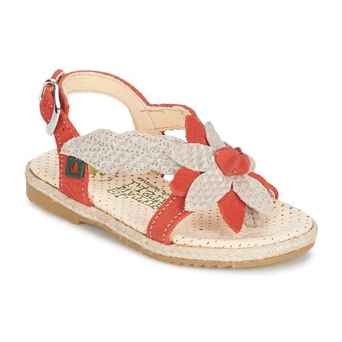 Chaussures Fille Sandales et Nu-pieds El Naturalista SAMOA Orange / Ecru