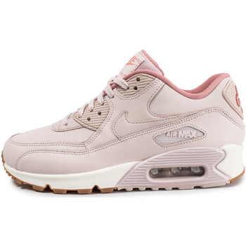 Chaussures Femme Baskets basses Nike Air Max 90 W Leather Rose