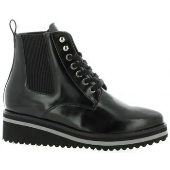 Chaussures Femme Bottines Vidi Studio Boots cuir glacé Noir