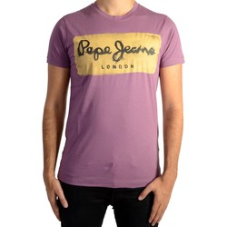 Vêtements Homme T-shirts manches courtes Pepe jeans Tee Shirt  Charing Burgundy Violet