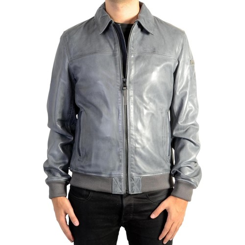 Vêtements Homme Blousons Redskins Blouson en Cuir  Rodger Mojito Storm Blue Bleu