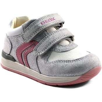 Chaussures Fille Baskets basses Geox RISHON B640LB ARGENT