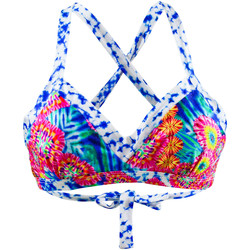 Vêtements Femme Maillots de bain séparables Luli Fama Maillot de bain Brassière en V  Beautiful Mess Multicolore MULTICOLORE