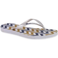 Chaussures Femme Tongs Amazonas Tongs Femme  Enjoy Zig Zag Blanc MULTICOLORE