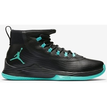 Chaussures Homme Baskets montantes Nike Chaussure de Basketball  Ultra Fly 2 Noir Jade logo rouge et noi