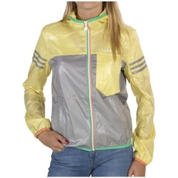 Vêtements Femme Coupes vent adidas Originals SC W Hooded Jkt W Adj Gris-Vert-Jaune