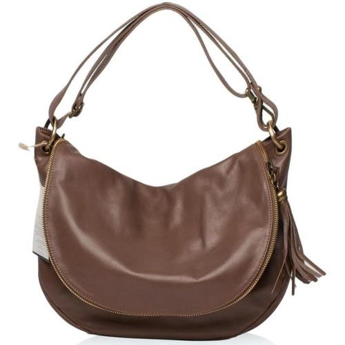 Sacs Femme Sacs porté épaule Oh My Bag Sac à Main cuir souple - Modèle 72 heures (moyen) taupe foncé TAUPE FONCE