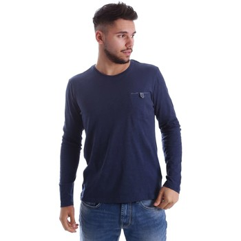 Vêtements Homme Pulls Gas 300155 T-shirt Man Bleu Bleu