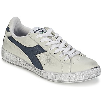 Chaussures Baskets basses Diadora GAME L LOW WAXED Blanc / Bleu