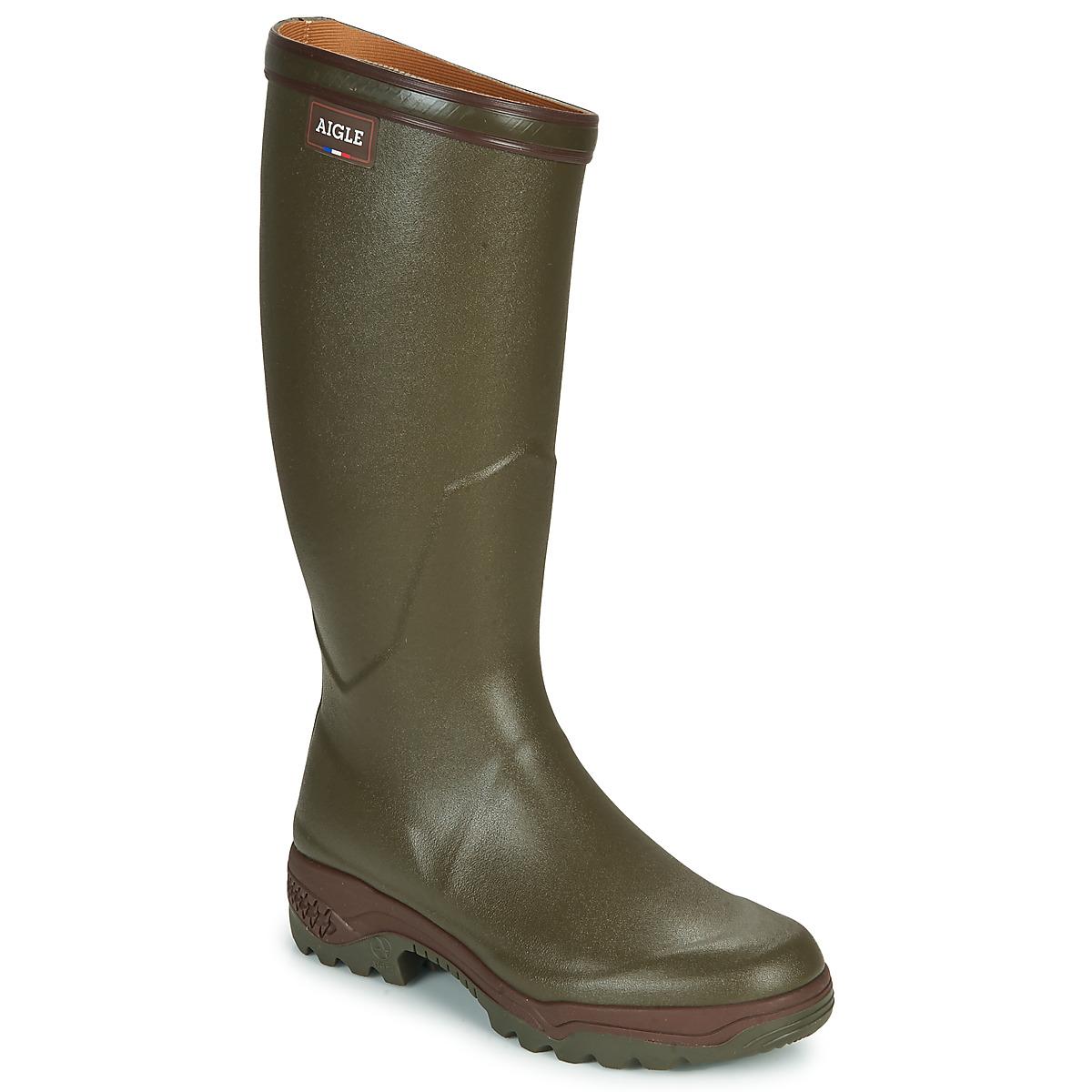 aigle parcours 2 kaki livraison gratuite avec chaussures bottes de pluie homme. Black Bedroom Furniture Sets. Home Design Ideas