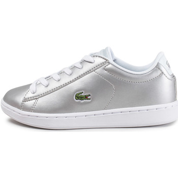 Chaussures Enfant Baskets basses Lacoste Carnaby Evo Enfant Argent