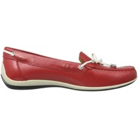 Chaussures Femme Mocassins Geox Mocassins Yuki rouges rouge