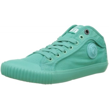 Chaussures Fille Baskets basses Pepe jeans Baskets Industry turquoises bleu