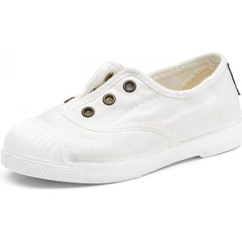 Chaussures Fille Baskets basses Natural World Baskets 470E blanches blanc