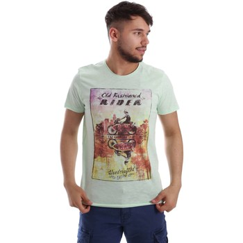 Vêtements Homme T-shirts manches courtes Key Up 230SG 0001 T-shirt Man Verde Verde