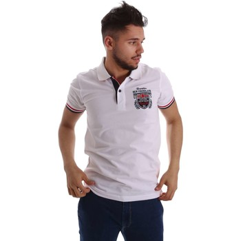 Vêtements Homme Polos manches courtes Key Up 257QG 0001 Polo Man Blanc Blanc