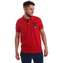 Vêtements Homme Polos manches courtes Key Up 255QG 0001 Polo Man Rouge Rouge