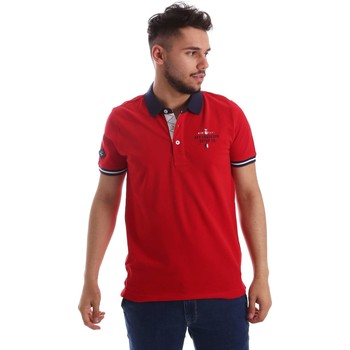Vêtements Homme Polos manches courtes Key Up 253QG 0001 Polo Man Rouge Rouge
