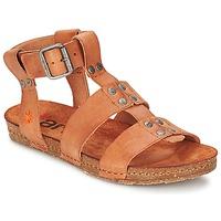 Chaussures Femme Sandales et Nu-pieds Art CRETA SPARA Camel