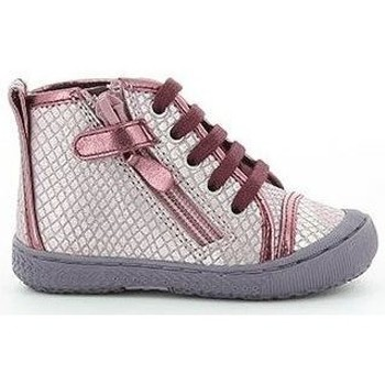 Chaussures Femme Baskets montantes Mod'8 Baskets cuir STAN rose